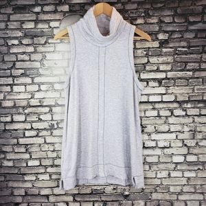 Lou & Grey Very Soft Sleeveless Turtleneck Small